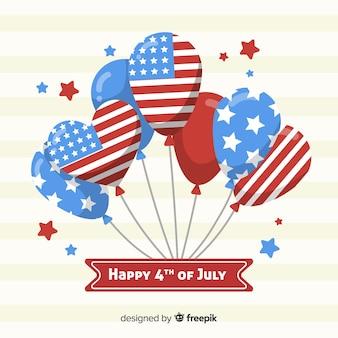 4 juillet - fond de fête de l'indépendance avec des ballons