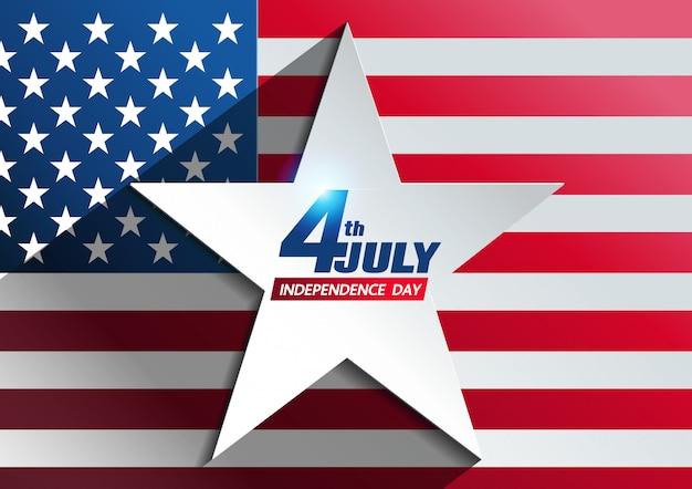 4 juillet fond de la fête de l'indépendance