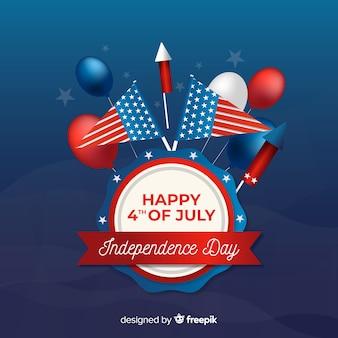 4 juillet - fond de fête de l'indépendance