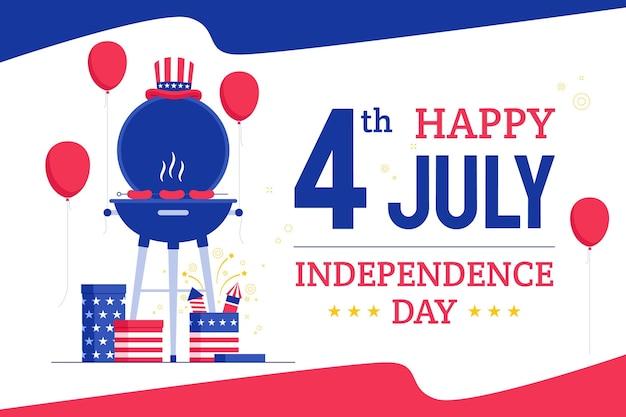 4 juillet - illustration de la fête de l'indépendance