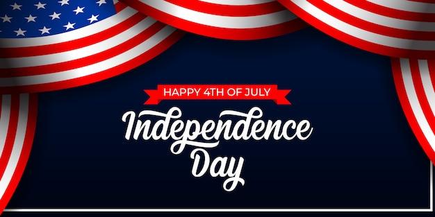 4 juillet, jour de l'indépendance, de, amérique, illustration