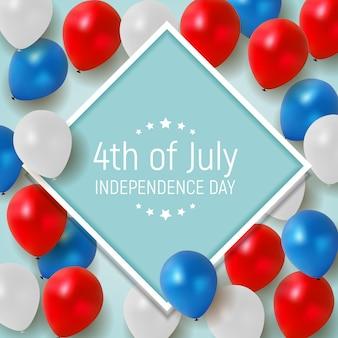 Le 4 juillet, jour de l'indépendance des états-unis.