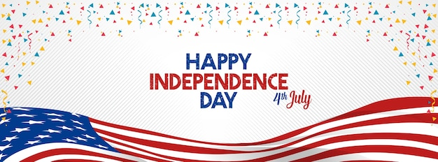 4 juillet joyeuse fête de l'indépendance états-unis amérique