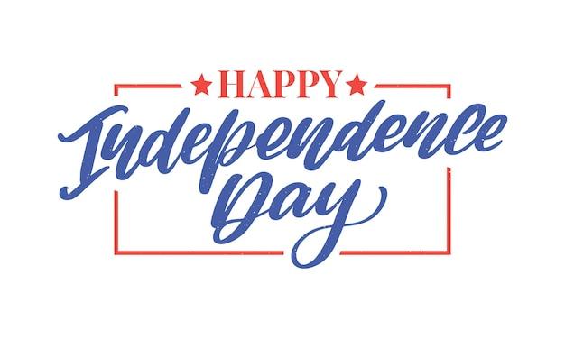 4 juillet lettrage de la fête de l'indépendance