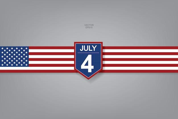 4 juillet - signe abstrait et symbole pour les etats-unis.