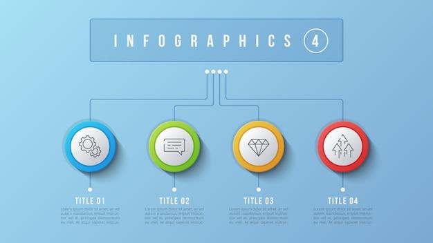 4 options de conception infographique, organigramme, présentation