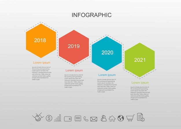 4 options d'infographie.