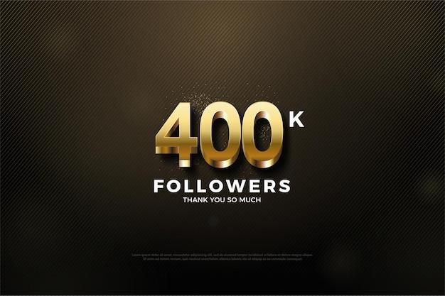 40 000 abonnés avec des chiffres en or fantaisie