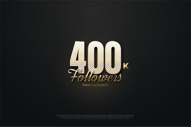 400 000 adeptes avec des nombres mouchetés d'or