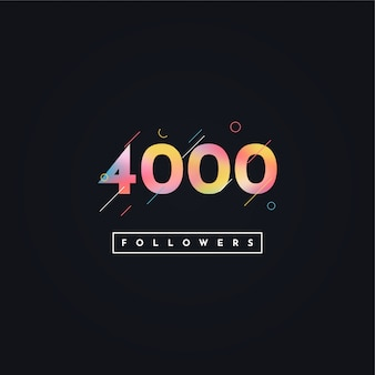 4000 followers illustration