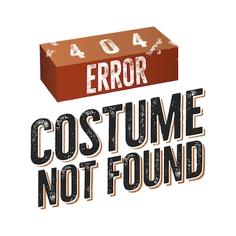 404 erreur costume introuvable.