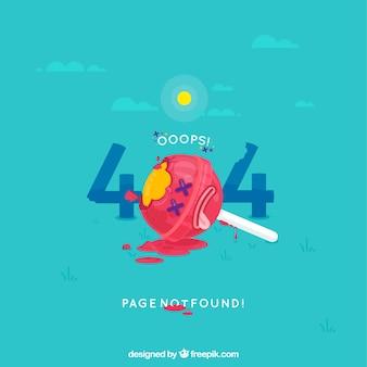 404 erreur fond dans le style plat