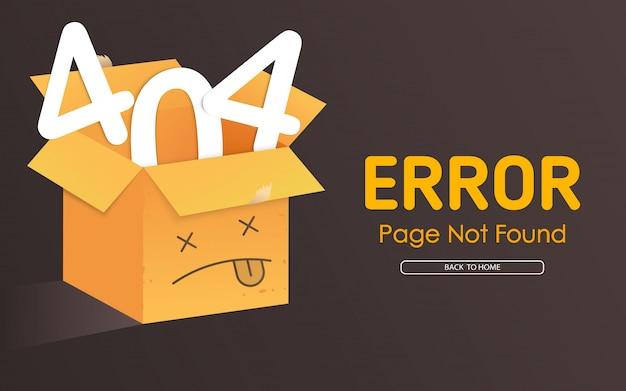 404 face de la boîte