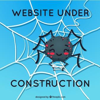 404 fond d'erreur avec une araignée