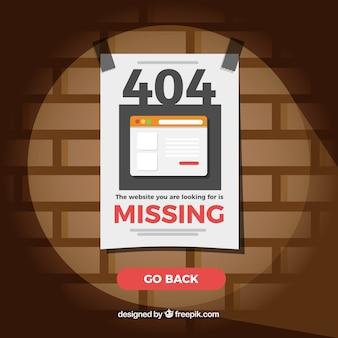 404 fond d'erreur avec du papier manquant