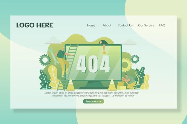 404 Modèle De Page De Destination De Page Manquante Vecteur Premium