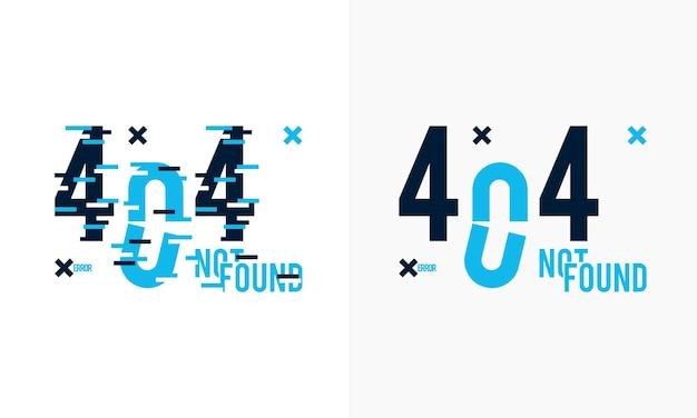 404 non trouvé problème déconnecter concept glitch style fond illustration vectorielle