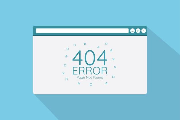404 page d'erreur dans l'écran du navigateur avec le concept de style plat