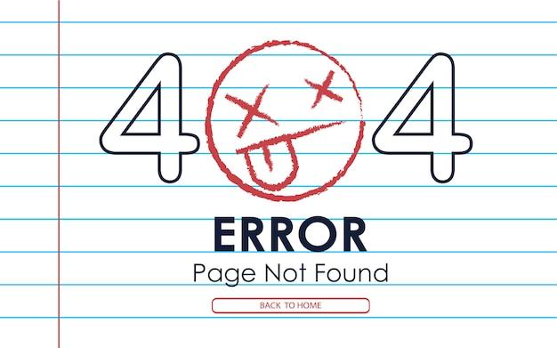 404 page d'erreur introuvable fond de note de papier