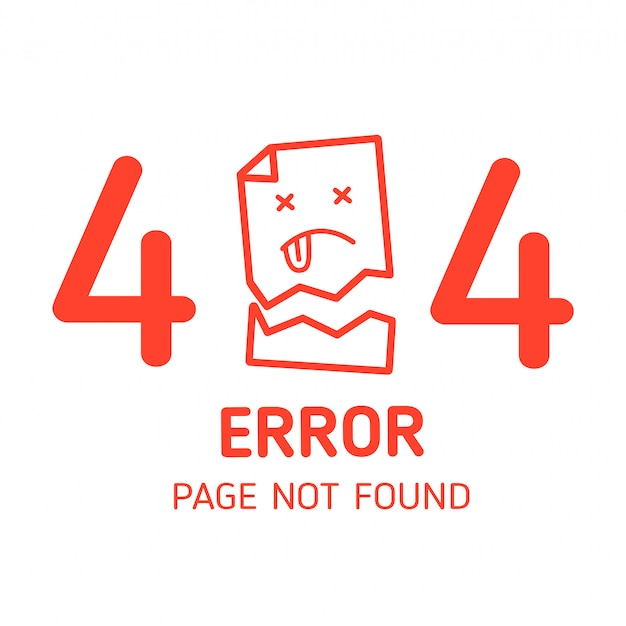 404 page d'erreur introuvable papier manquant