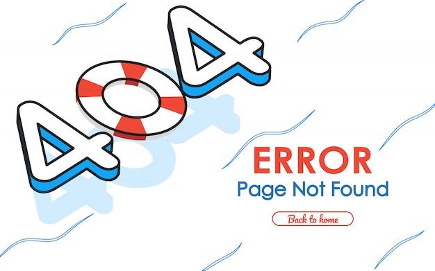 404 page d'erreur non trouvée dans la piscine