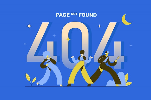 404 page not found concept illustration page de destination