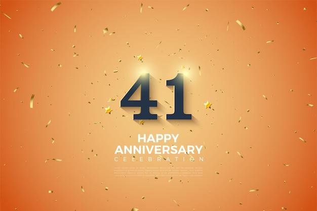 41e anniversaire, modèle de célébration