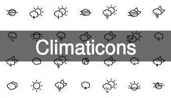 42 climaticons et icônes météo