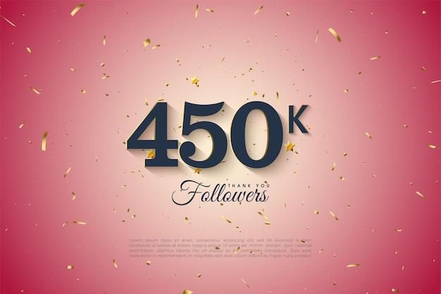 450 000 abonnés avec un fond dégradé clair