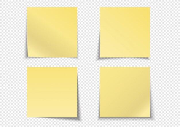 4actions étiquette de note postale papier jaune note collante