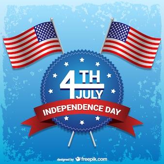 4e jour de l'indépendance du vecteur juillet