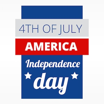 4ème jour de conception de jour de l'indepence américaine