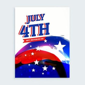 4ème juillet indépendance flyer jour