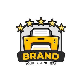 5 cinq étoiles logo de l'imprimante dorée