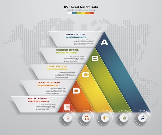 5 étapes de présentation modèle d'infographie