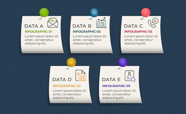 5 options de données infographiques