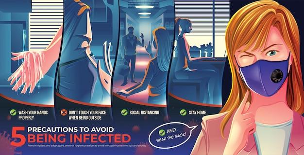 5 précautions éviter d'être infecté