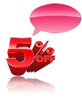5% de réduction sur le style 3d avec discours