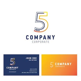 5 vecteur de conception de logo d'entreprise