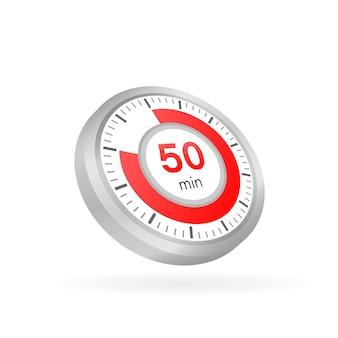 Les 50 minutes, icône de vecteur de chronomètre