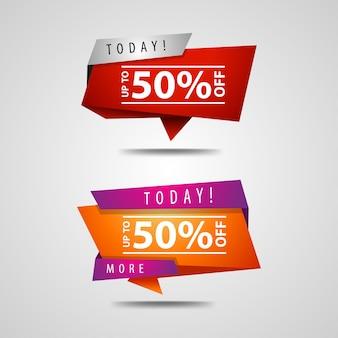 50% de réduction sur la bannière