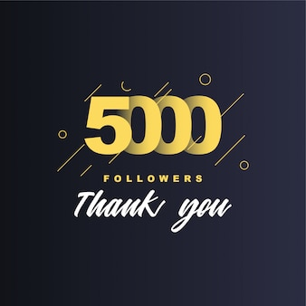 5000 followers merci illustration
