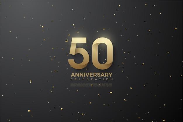 50e anniversaire avec des numéros à motifs