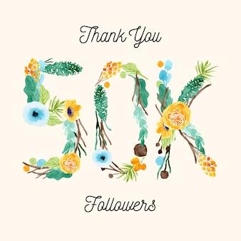 50k abonnés médias sociaux message de remerciement