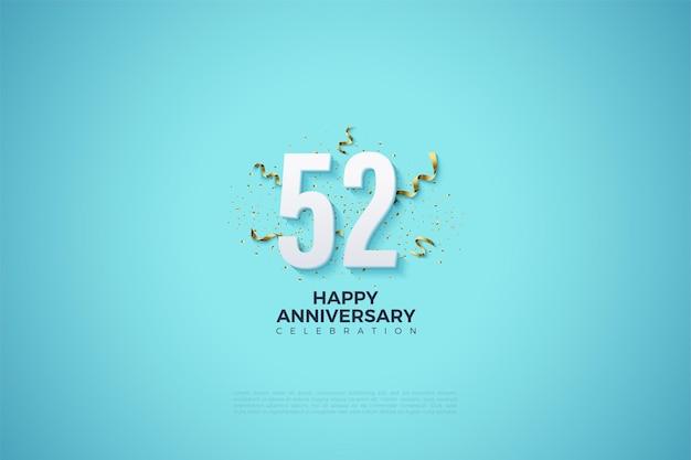 52e anniversaire avec chiffres et festivités
