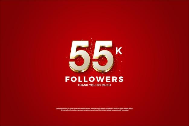 55k followers avec numéro plaqué or luxueux