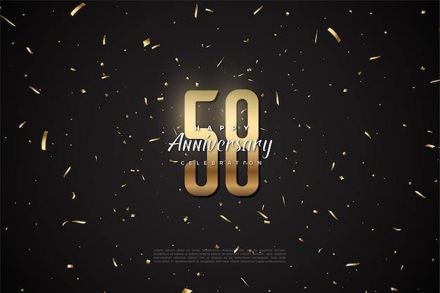 58e anniversaire avec illustration du nombre d'or