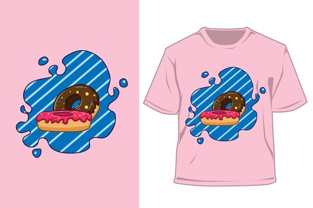 59. maquette d'illustration de dessin animé de délicieux beignets