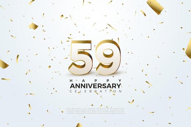 59e anniversaire avec des chiffres stylés