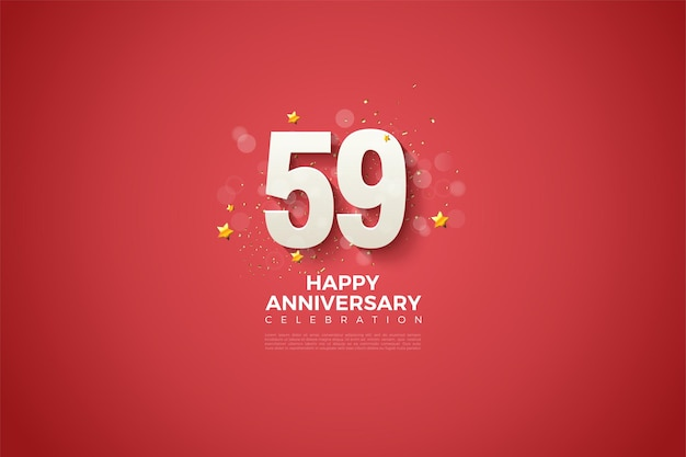 59e anniversaire avec un design simple et luxueux